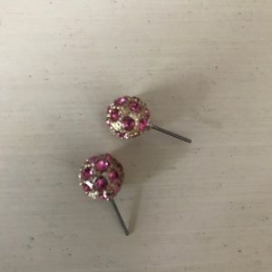 Lilly Pulitzer Pink Ball Earrings